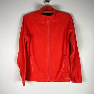 Marmot Full Zip Fleece Jacket Orange Women's M